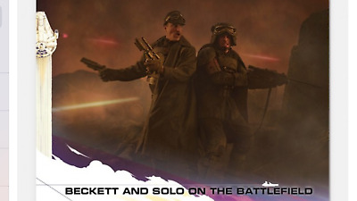 2018 Topps Countdown To Solo Star Wars Story Card Beckett & Solo Battlefield #6