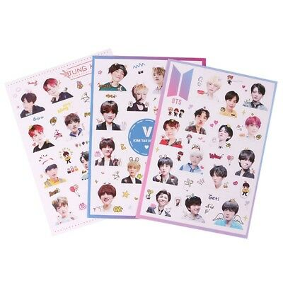 Cute Kpop BTS Bangtan Boys Transparent Sticker for Album Scrapbooking Decor New