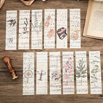 30pcs/Box Disappearing Musical Note Bookmark Book Mark Magazine Note Label Decor