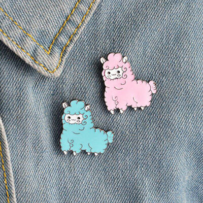 Cartoon Dinosaur Rabbit Sheep Brooch Pin Women's Costume Jewelery Jian