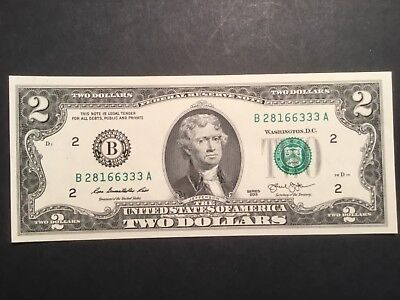US Two dollar note.