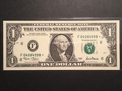 US One Dollar star note.