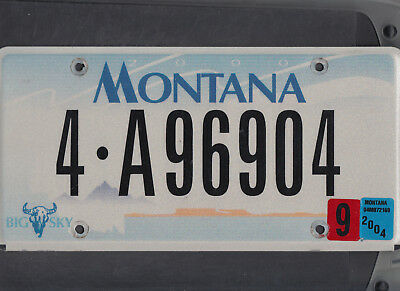 "MONTANA passenger 2004 license plate ""4-A96904"" ***NATURAL***MISSOULA***"