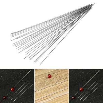 30 x Beading Needles for Stringing & Threading Beads & Pearls Various Sizes