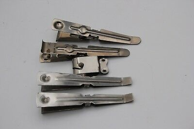 Stainless Steel Print Tongs X4 And One Film Clip