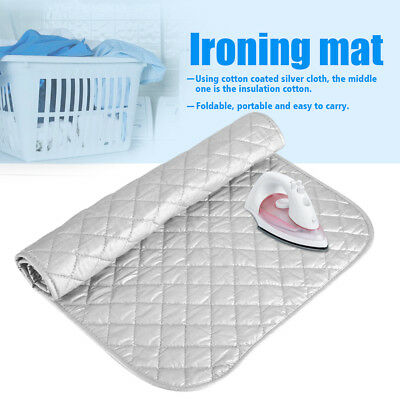 Foldable Ironing Mat Laundry Washer Dryer Cover Board Heat Resistant Blanket New