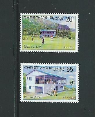 1980 CHRISTMAS ISLAND 25th Anniversary Golf Club Set MNH (SG 120-121)