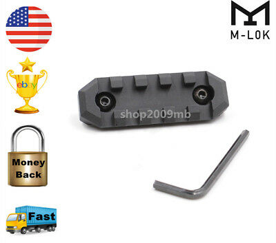 5 Slots M-lok Handguard Rail Section 20mm Picatinny Weaver Rail Base Adapter Nut