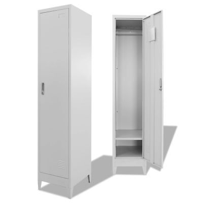 vidaXL Locker Cabinet Steel Storage Cupboard Office Gym Sport Changing Room