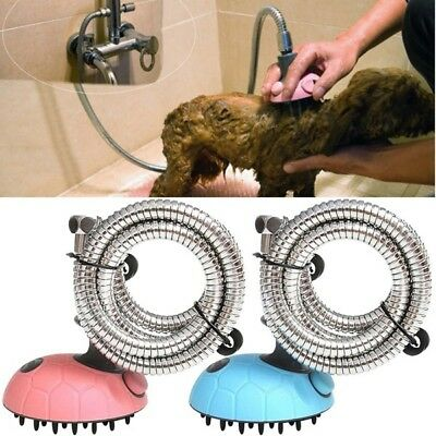Multifunction Pets Dog Puppy Bathing Suit Rubber Hose Massager Shower Head