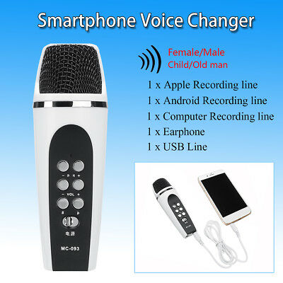 4 Mode Voice Changer Microphone Earphone For iphone Apple Smartphone PC Android