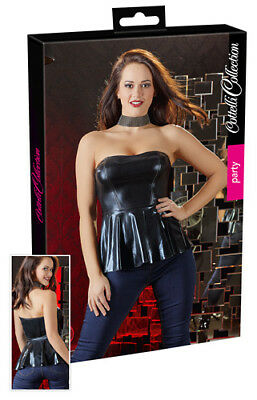 Cottelli Collection Party Wetlook-Top Lingerie Dessous Reizwäsche schwarz XL