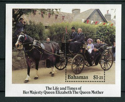 Bahamas QEII 1985 Life and times of the Queen Mother  SG.MS716 MNH
