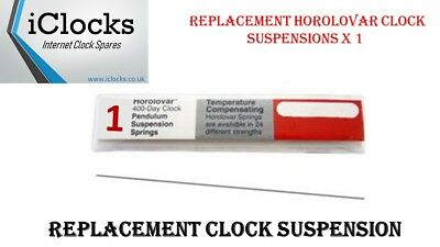 1x Horolovar 400 day Anniversary Clock Suspension Spring 24 Sizes Spares UK