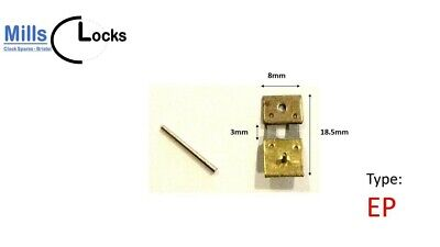 Brass Clock Pendulum Suspension Spring & Pin, Repair, (18.5 x 3 x 8mm) (Type EP)