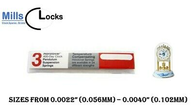 Horolovar 400 day Anniversary Clock Suspension Spring 24 Sizes Spares & Parts UK