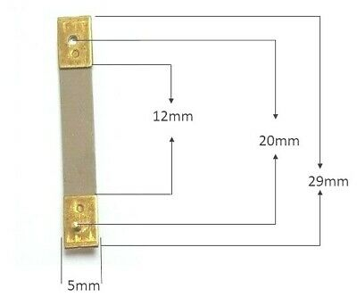 Brass Clock Pendulum Suspension Spring. (29 x 12 x 5mm) (Type D) UK Seller