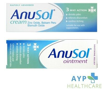 Anusol Haemorrhoid Relief Discomfort Cream/Ointment 23g/43g Itching/Piles