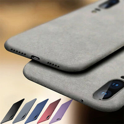 For Huawei P Smart P20 Pro P9 Lite Mini Soft TPU Sandstone Matte Back Case Cover