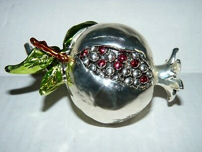 Sterling Silver 925 Pomegranate By Nuova Max Art Italy