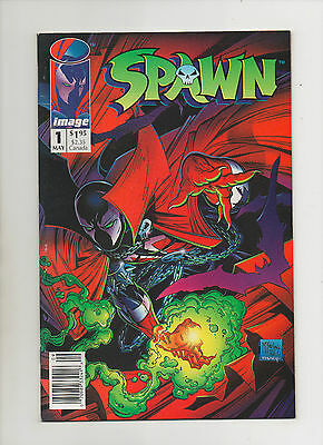 Spawn #1 - Newsstand Edition With UPC Barcode & Poster - 1992