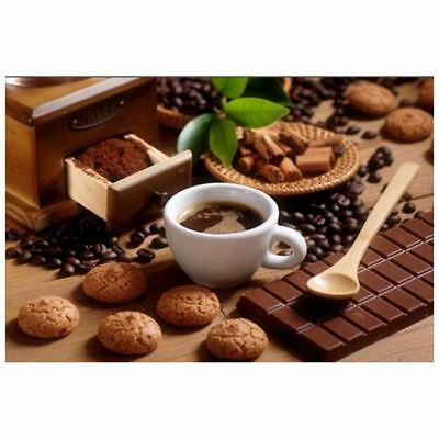 3X(5D DIY Diamond Painting Cross Stitch Decor, Coffee with biscuits Q7M1