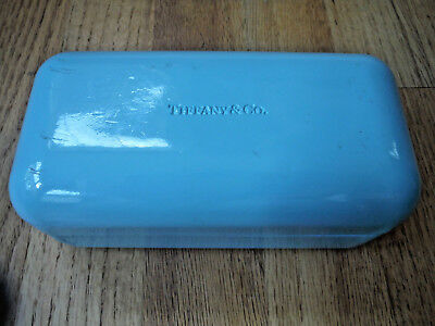 TIFFANY & CO Hard Clamshell Glasses Case Only- Eyeglasses/Sunglasses Turquoise