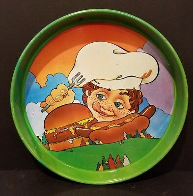 Vintage Tin Tray - Cheinco Advertisting - Food Hot Dog Hamburger Chef Restaurant