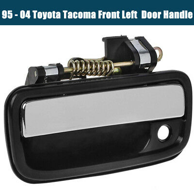 Chrome Exterior Door Handle Front Left Driver Side For 95-04 Toyota Tacoma,Black