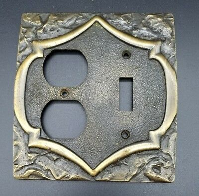 *Vintage* Amerock Monterey Brass Single Toggle Outlet Switch Plate Cover