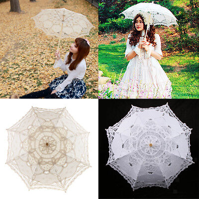 Handcraft Lace Parasol Umbrella Wedding Bridal Bridesmaid Decor Photo Prop 30""