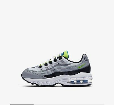 7ad10b0f68 NIKE AIR MAX 95 Kids Size (1Y) Lime Green/Baby Blue - $90.00 | PicClick
