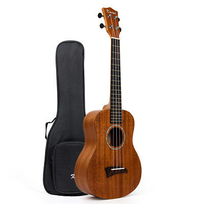 Ukelele Tenor 66cm Hawaii Guitarra Caoba Top Mate para Regalo con / Funda