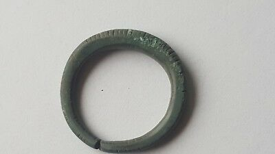 Ancient Old Medieval Bronze Ring. 13 - 14 century A.D