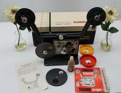 Johnson-Glanvill Vintage Sound Striper Standard Super 8mm Home Movie Film Editor
