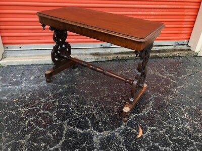 Antique English Mahogany Occasional, Console or Coffee Table.
