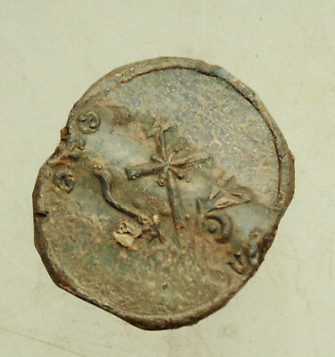 Ancient Byzantine  Lead Seal   D=25mm  9,3g  Quality