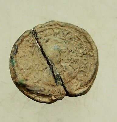 Ancient Byzantine  Lead Seal   D=25mm  9,1g  Quality