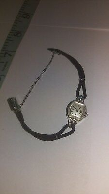 Zodiac 14k White Gold Antique Vintage Rope Lace Womens Watch