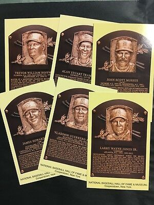 2018 Baseball Hall Of Fame Postcard Set- Chipper Jones, Thome, Hoffman, Morris +