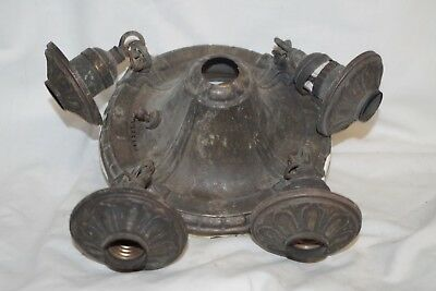 ANTIQUE Old Ceiling 4 Light Fixture Plate Art Nouveau