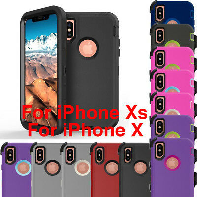 For Apple iPhone X 10 Defender Rugged Case Cover (Clip Fits Otterbox Defender)