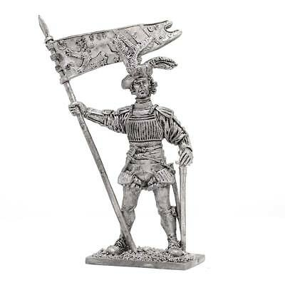"Tin toy soldier ""Сaptain - England army, XVI cent."" 54mm #M12"
