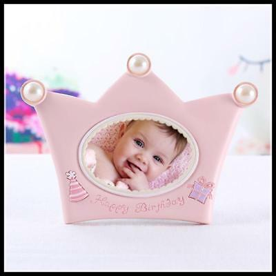 Crown Shaped Photo Frame Pink Baby Picture Frame Blue Photo Backdrops Boy Girl