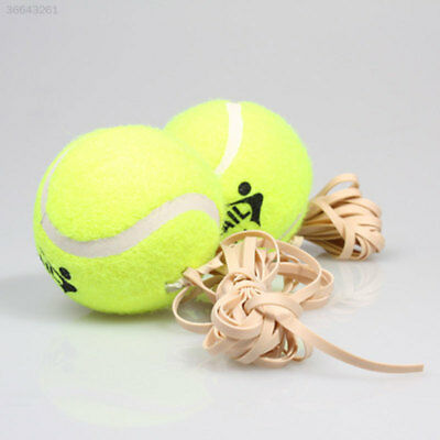 Sports Tennis Ball With Elastic Rubber Rope Beginners Single Train Tool 09D8AD5