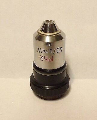 Zeiss 40X Ph2 W Microscope Objective 160mm Water Immersion Phase Contrast