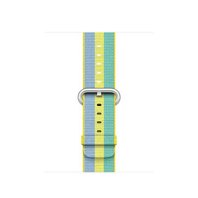 Genuine Apple 38mm Watch Woven Nylon Band - Pollen Stripe - VG (No Box)