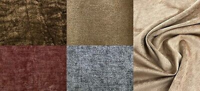 Chenille Medium Weight Curtain/Interior Fabric Material 140cm Wide Per Meter