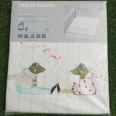 "NIP IKEA FABLER GRODA Frogs Quilt Cover Pillowcase 43""X49"" Discontinued"