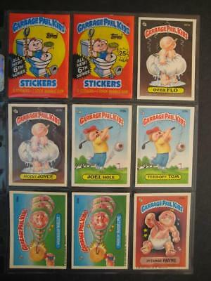 Garbage Pail Kids 6th Series Set 88 Cards Total